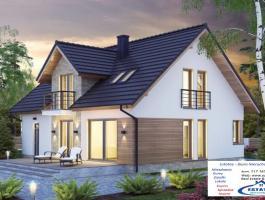 Krzywe gm. Suwałki- nowy dom na sprzedaż