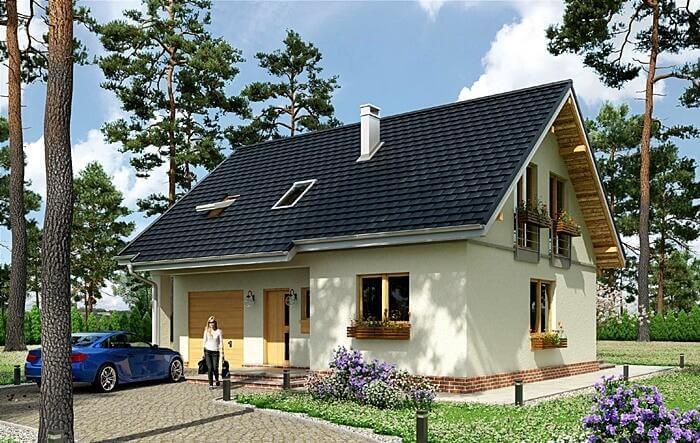Ekonomiczny dom jednorodzinny 136 Centrum Suwałk