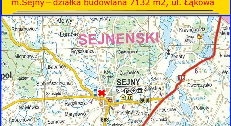 Działka na sprzedaż gmina Sejny, ul . Łąkowa – działka budowlana 7132