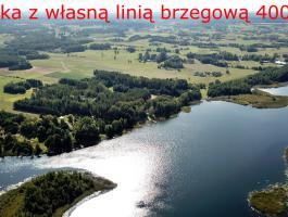 Jezioro Dowcień, pow. działki 4000m2