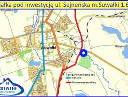 Sejneńskiej , m. Suwałki 1.6 ha - działka inwestycyjna