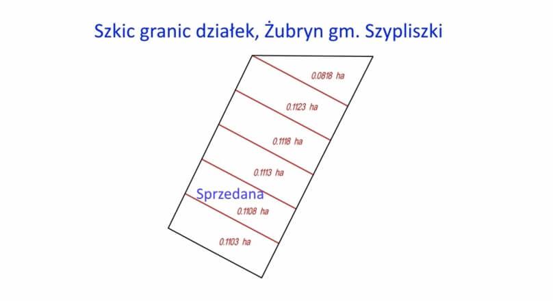 Działki budowlane Żubryn gm. Szypliszki
